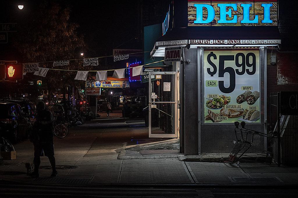 Corner deli, Harlem.